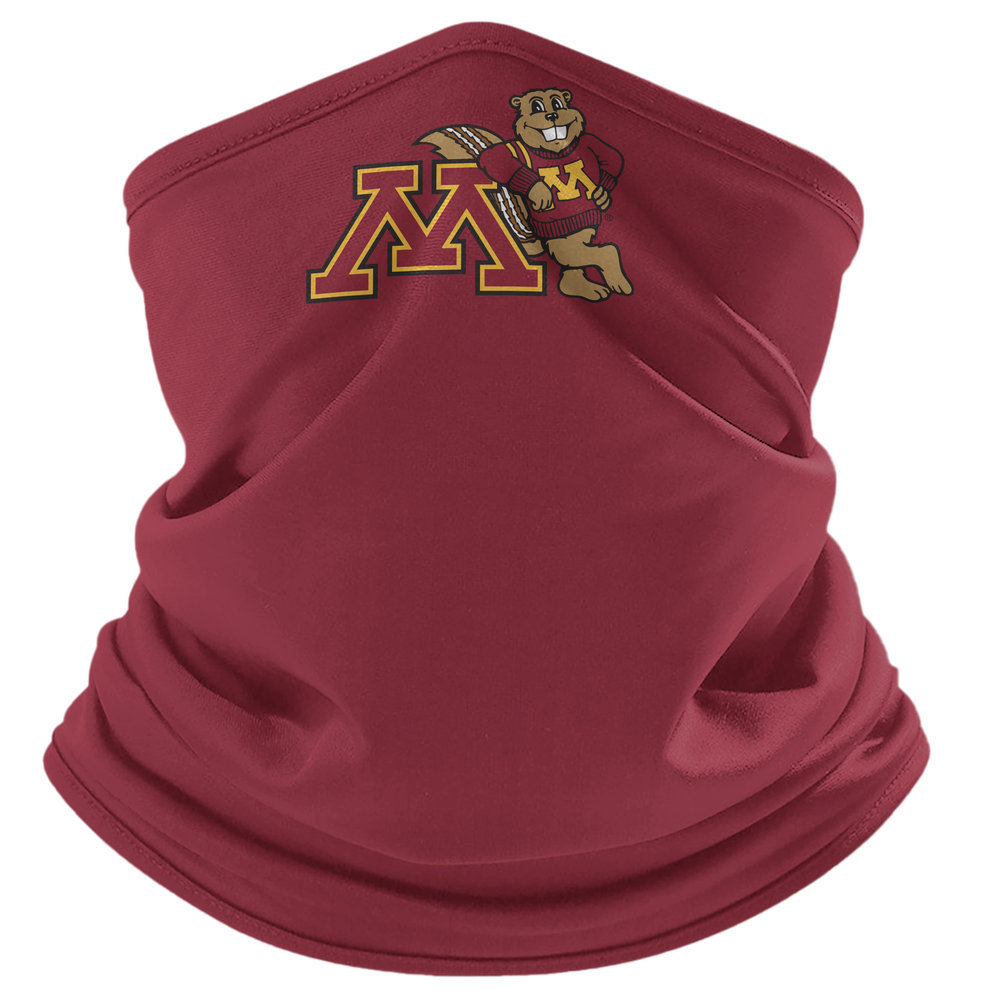 Minnesota Golden Gophers Retro Face Covering Gaiters 2-Pack Image a