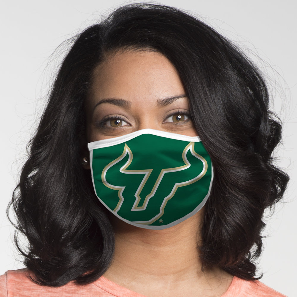 South Florida Bulls Retro Face Covering 3-Pack Image a