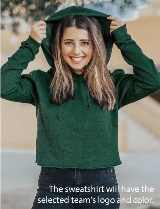 Penn State Nittany Lions Womens Crop Hoodie Sweatshirt Vintage Image a