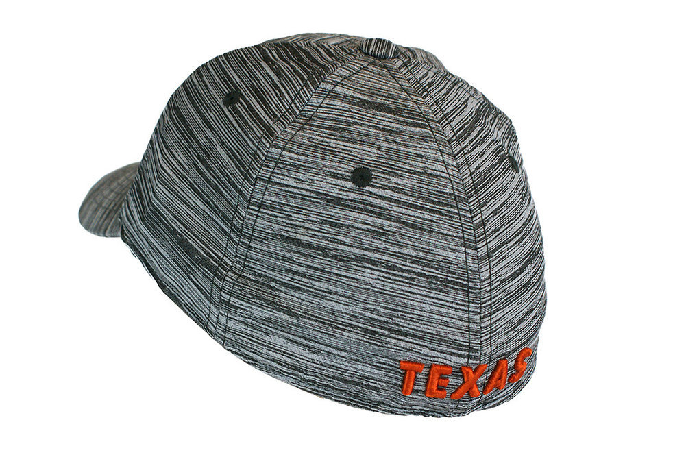 Texas Longhorns Fitted Hat Space Dyed Black Image a