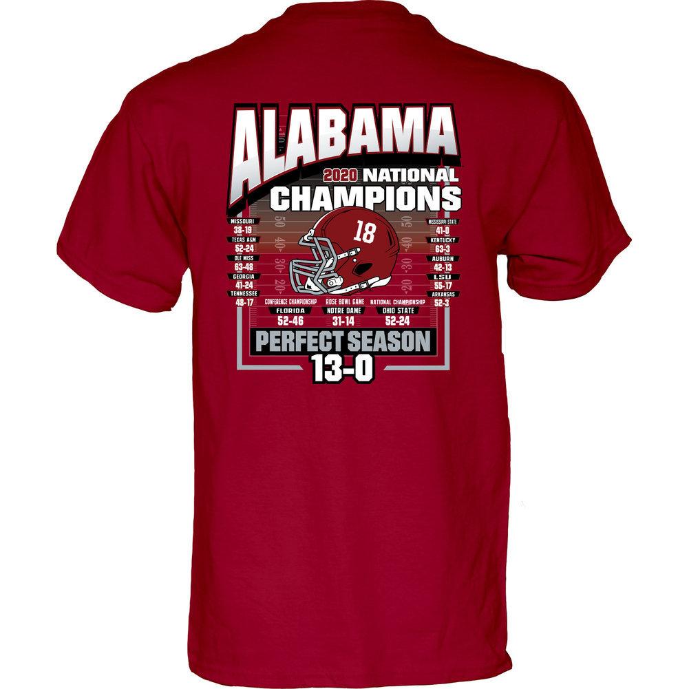 Alabama Crimson Tide National Champs T Shirt 2020-2021 Schedule Image a