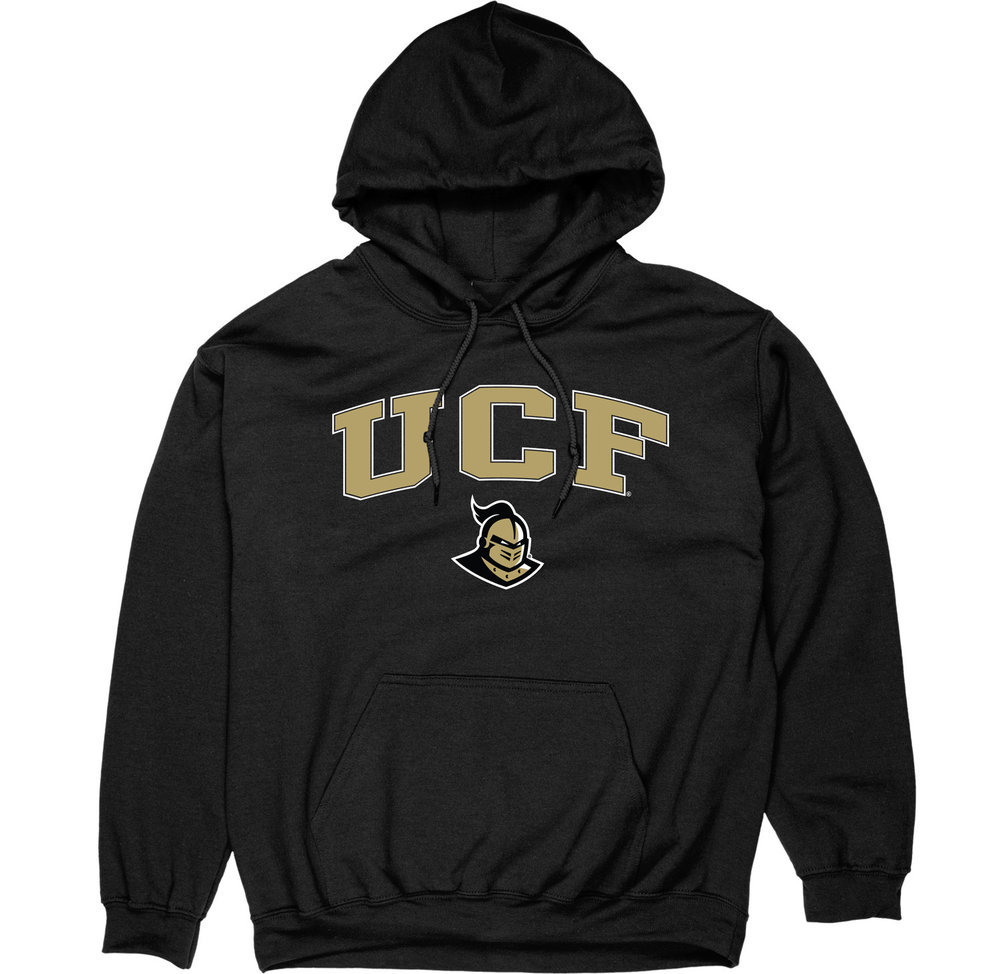 UCF Knights Hooded Sweatshirt Varsity Black Arch Over Image a