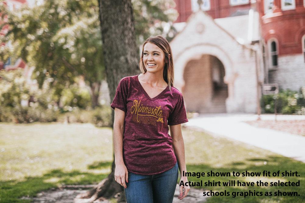 University of Pittsburgh Panthers Womens Vneck TShirt Royal Image a
