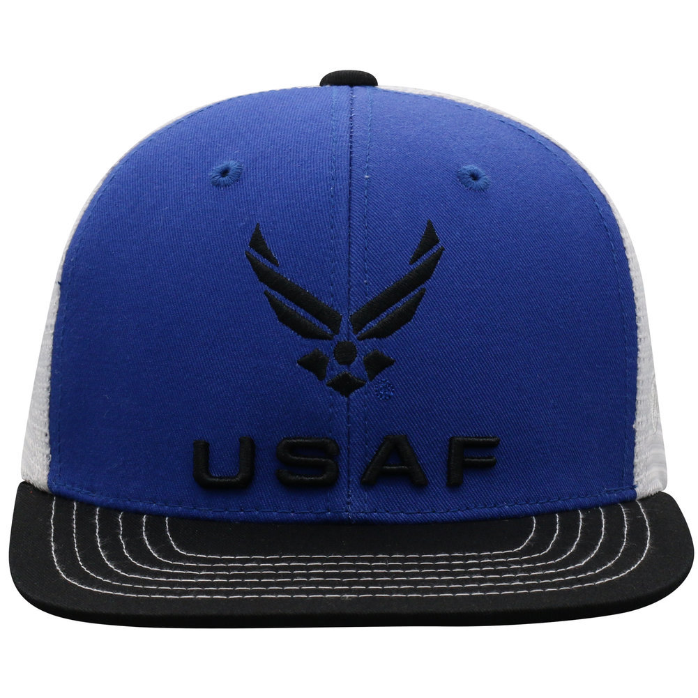 US Air Force Armed Forces Military Flat Bill Hat Logo Image a