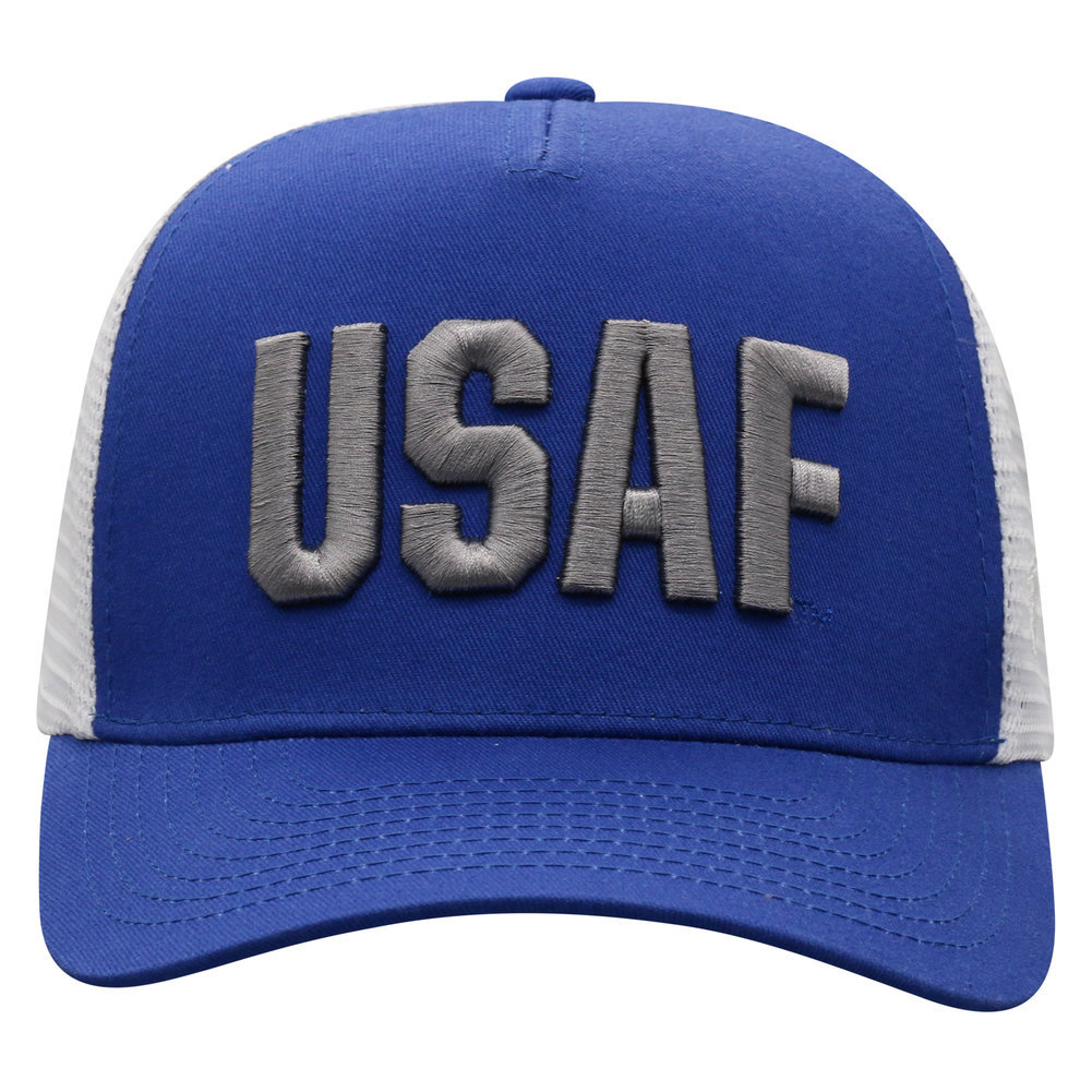 US Air Force Armed Forces Military Snap Back Hat Block Image a