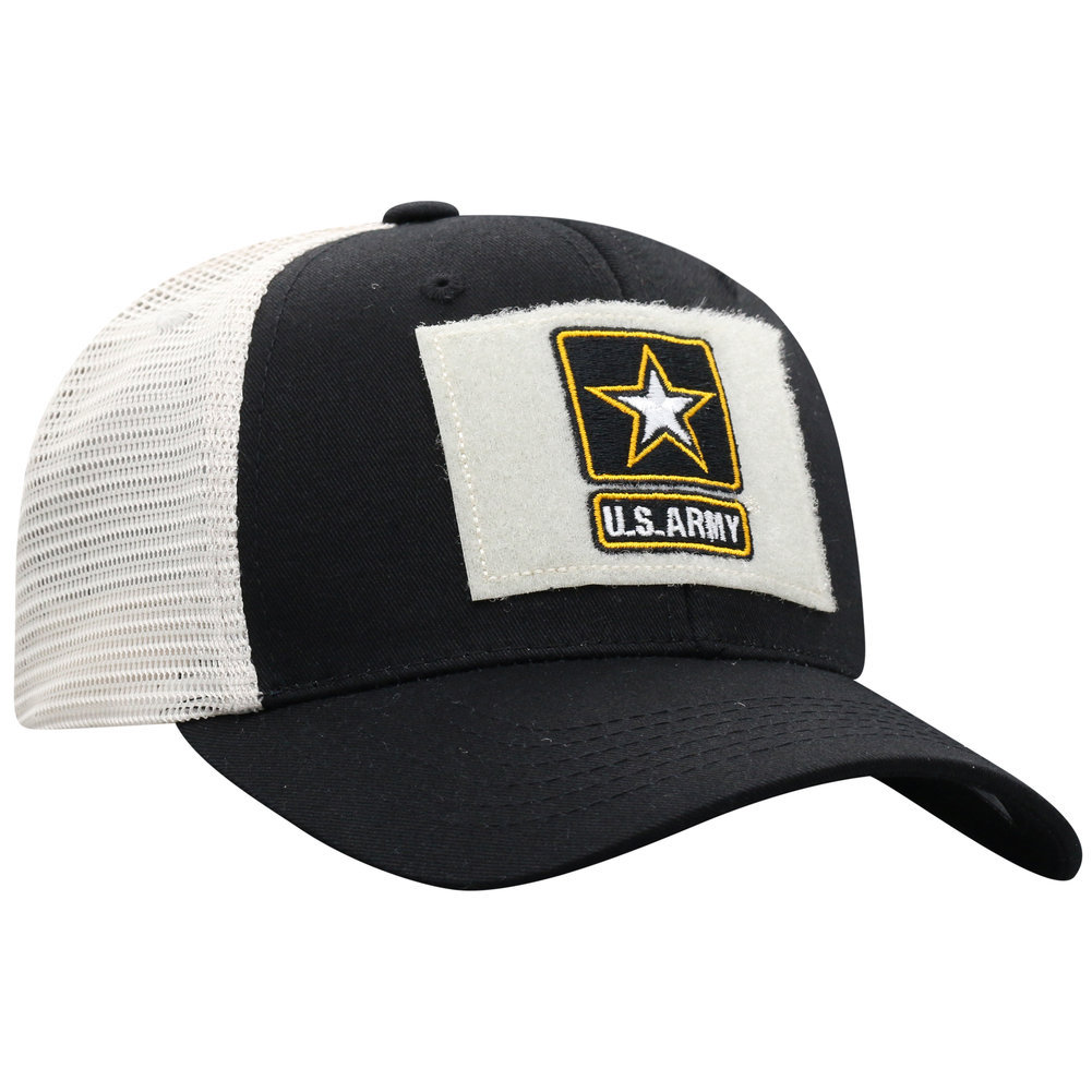 US Army Armed Forces Military Snap Back Hat Black Image a