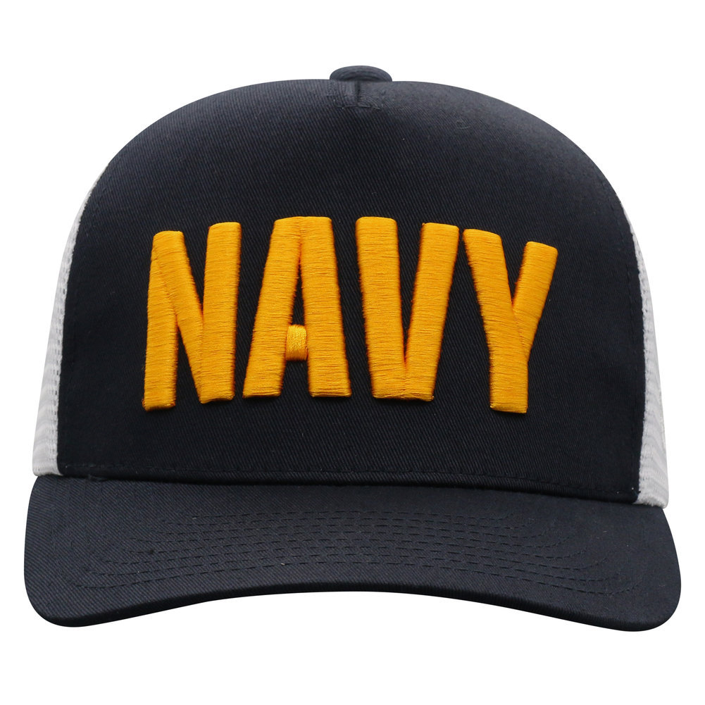 US Navy Armed Forces Military Snap Back Hat Block Image a