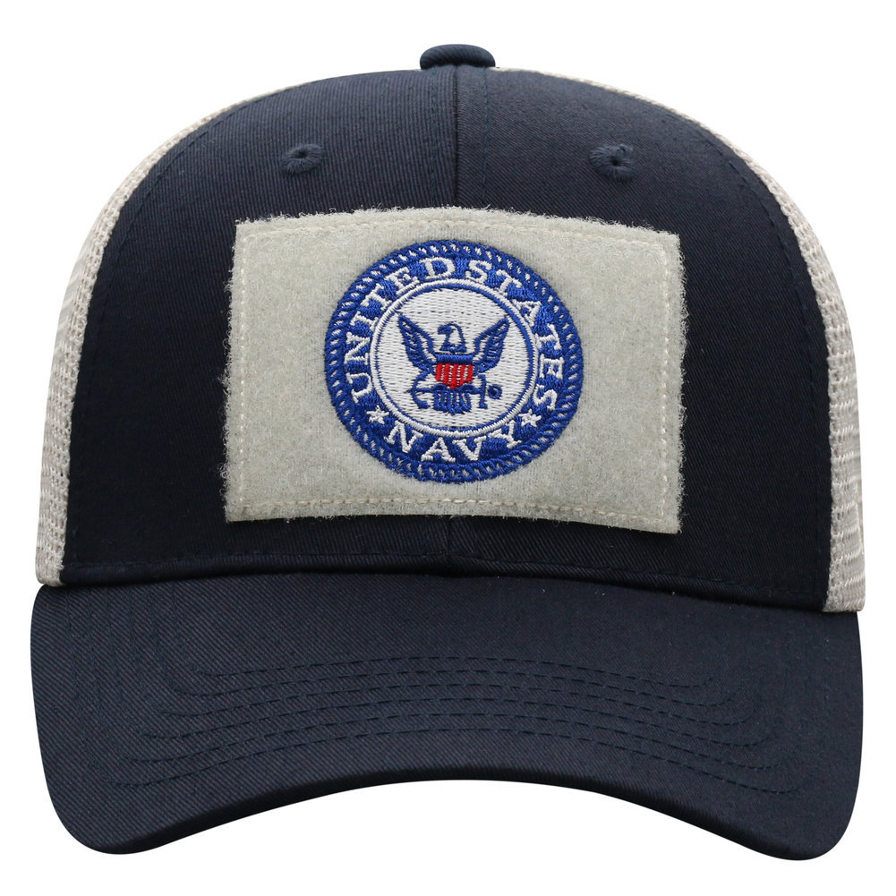 US Navy Armed Forces Military Snap Back Hat Blue Image a