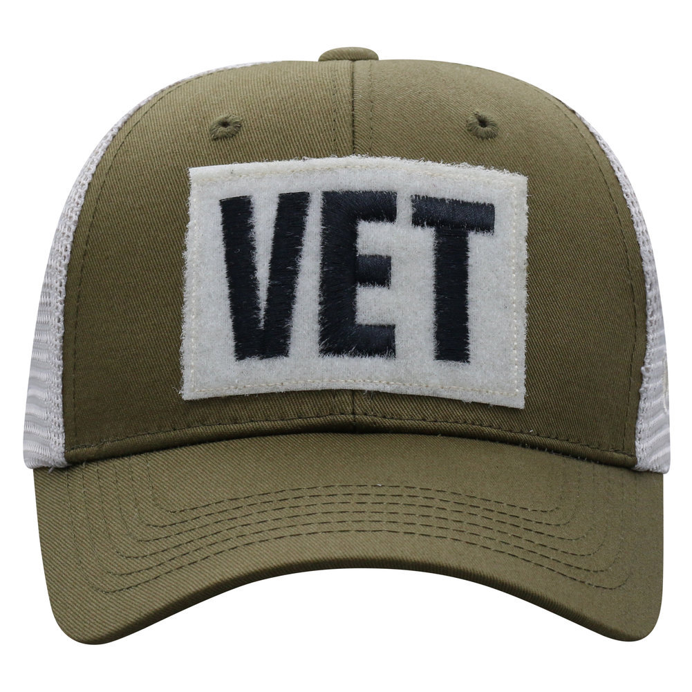 US Navy Armed Forces Military Vet Snap Back Hat Military Green Image a