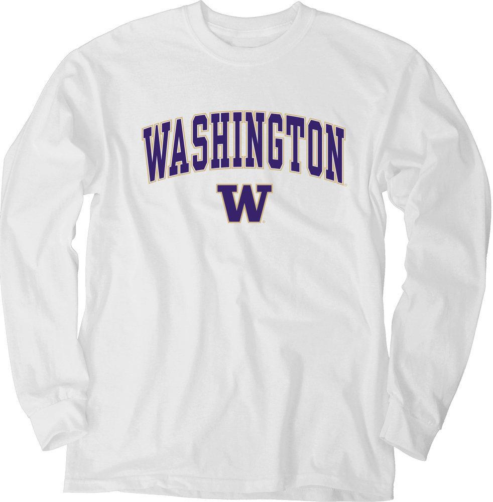 Washington Huskies Long Sleeve TShirt Varsity White Image a