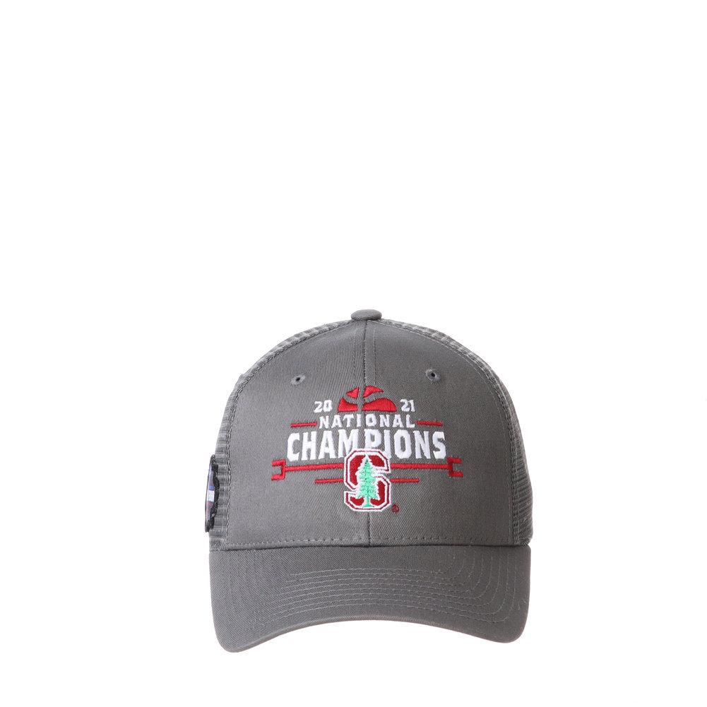 Stanford Cardinal Womens National Basketball Championship Hat 2021 Big Rig Image a