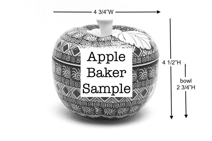 Polish Pottery Apple Baker - Primrose  Image a
