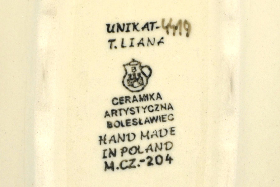 Polish Pottery Baker - Round with Handles - Medium - Unikat Signature - U4419 Image a