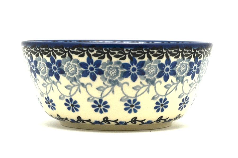 Polish Pottery Bowl - Ice Cream/Dessert - Silver Lace Image a