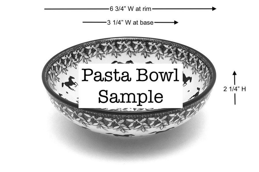 Polish Pottery Bowl - Contemporary Salad - Daffodil Image a