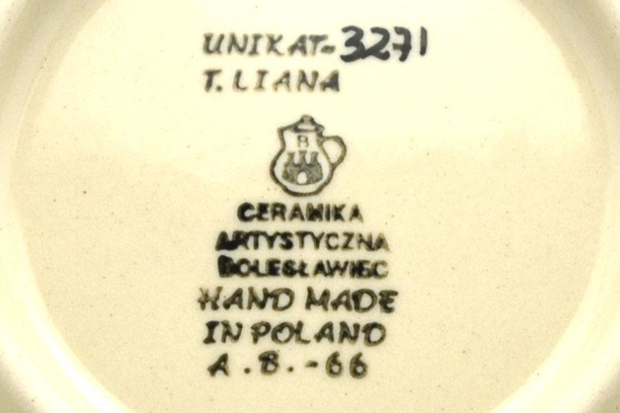 Polish Pottery Bowl - Shallow Scalloped - Small - Unikat Signature U3271 Image a