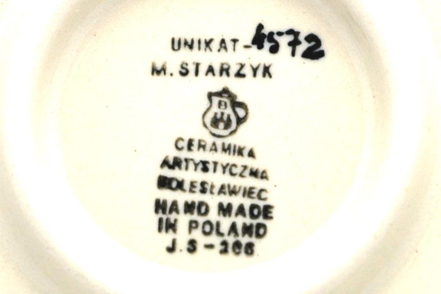 Polish Pottery Bowl - Shallow Scalloped - Small - Unikat Signature U4572 Image a