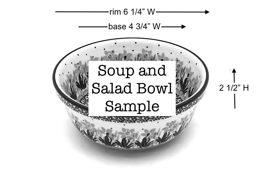 Polish Pottery Bowl - Soup and Salad - Unikat Signature - U4578 Image a