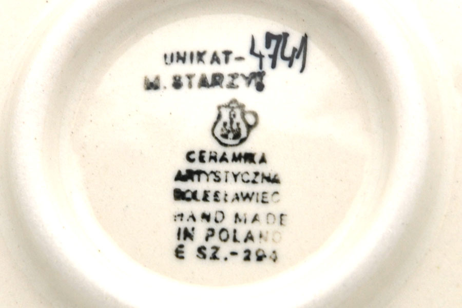 Polish Pottery Bowl - Soup and Salad - Unikat Signature - U4741 Image a
