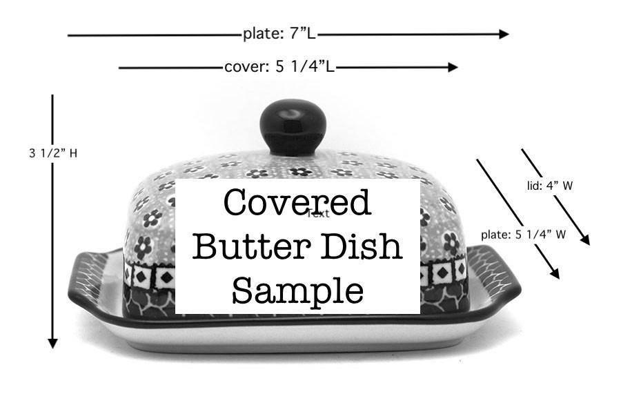 Polish Pottery Butter Dish - Unikat Signature - U4695 Image a