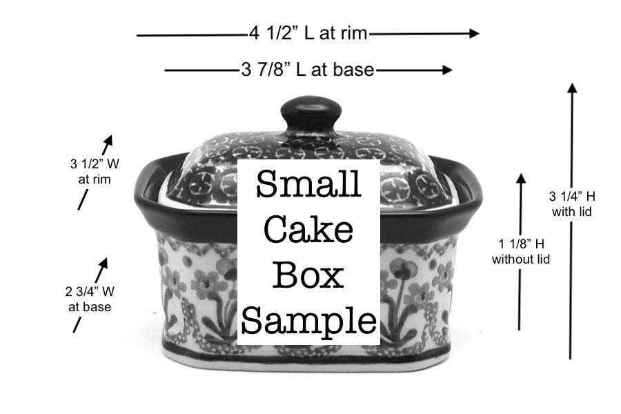 Polish Pottery Cake Box - Small - Maraschino Image a