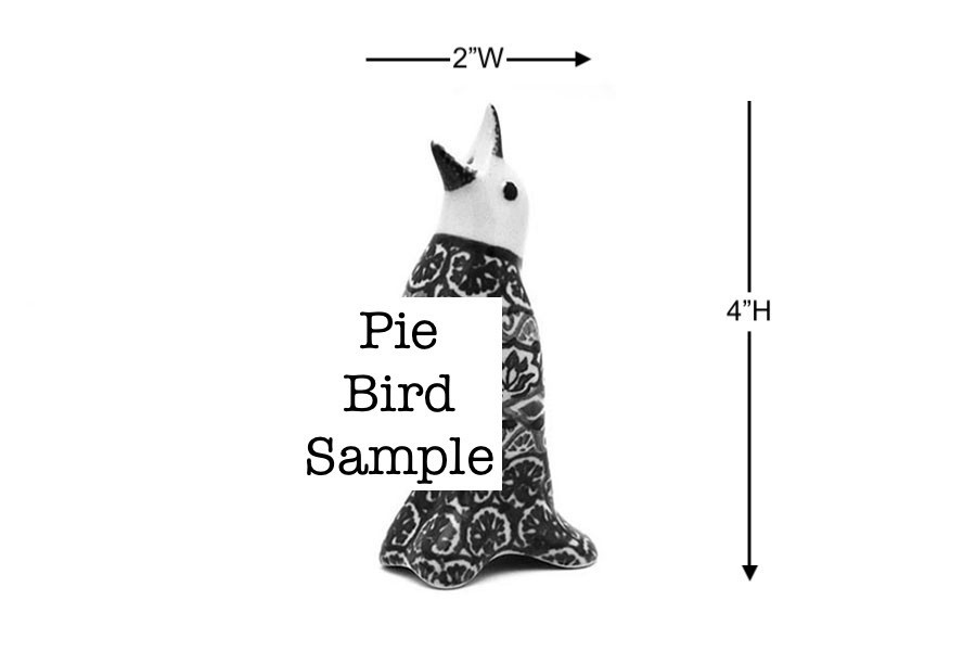 Polish Pottery Pie Bird - Peach Spring Daisy Image a