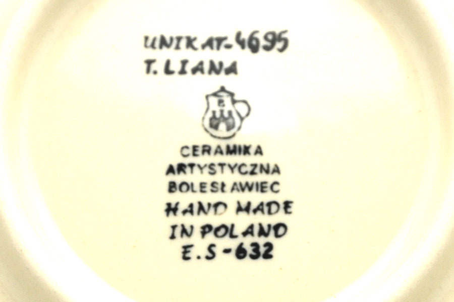 "Polish Pottery Plate - Salad/Dessert (7 3/4"") - Unikat Signature U4695 Image a"
