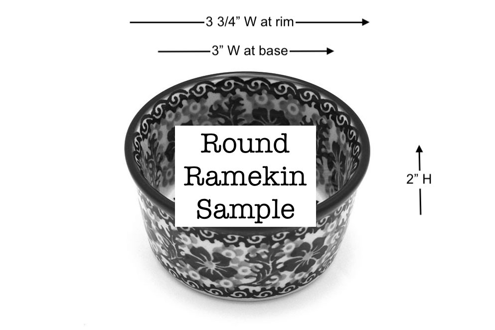 Polish Pottery Ramekin - Holly Berry Image a