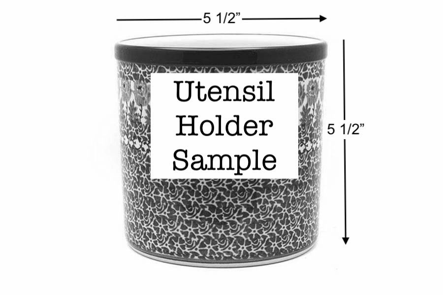 Polish Pottery Utensil Holder - Unikat Signature U4873 Image a