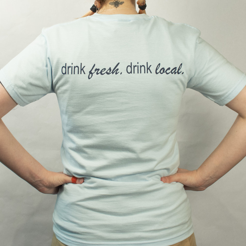 Drink Local Tee - Light Blue Image a