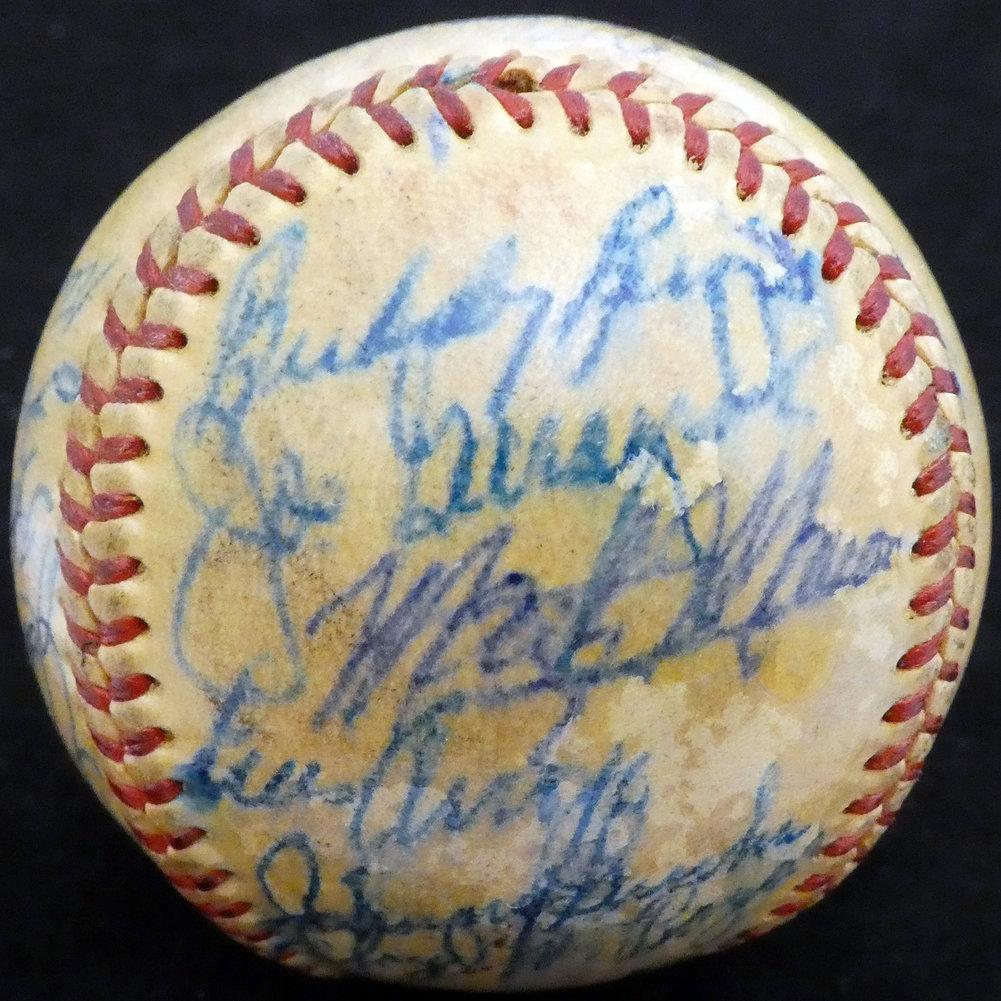 Authentic  Autographed Signed1951 St. Louis Cardinals Autograph Image a