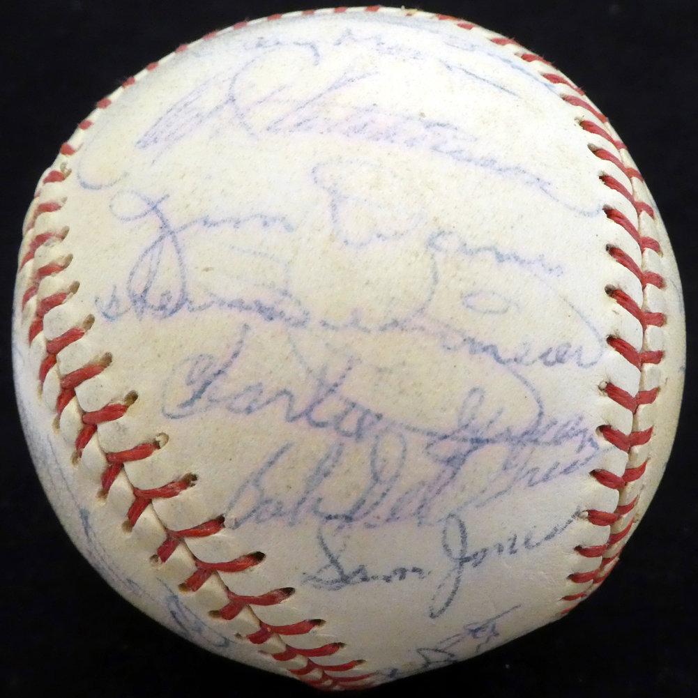 Authentic 1957 Autographed Signed St. Louis Cardinals Autograph Image a