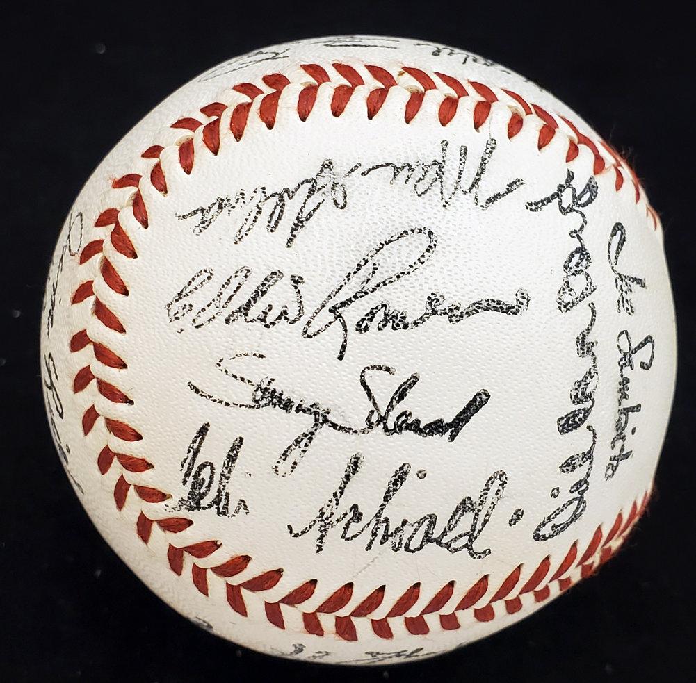1986 Boston Red Sox Team Stamped Souvenir Baseball Roger Clemens SKU #163826 Image a