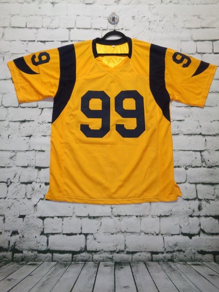 8dd91de1c96 ... promo code for aaron donald autographed signature rams color rush  yellow jersey jsa authentic. loading