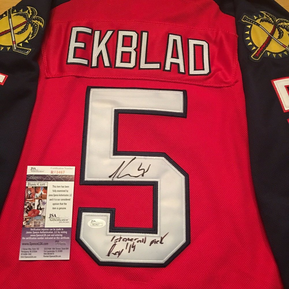 on sale 03197 77e7f Aaron Ekblad Autographed Signed Florida Panthers Reebok Home ...