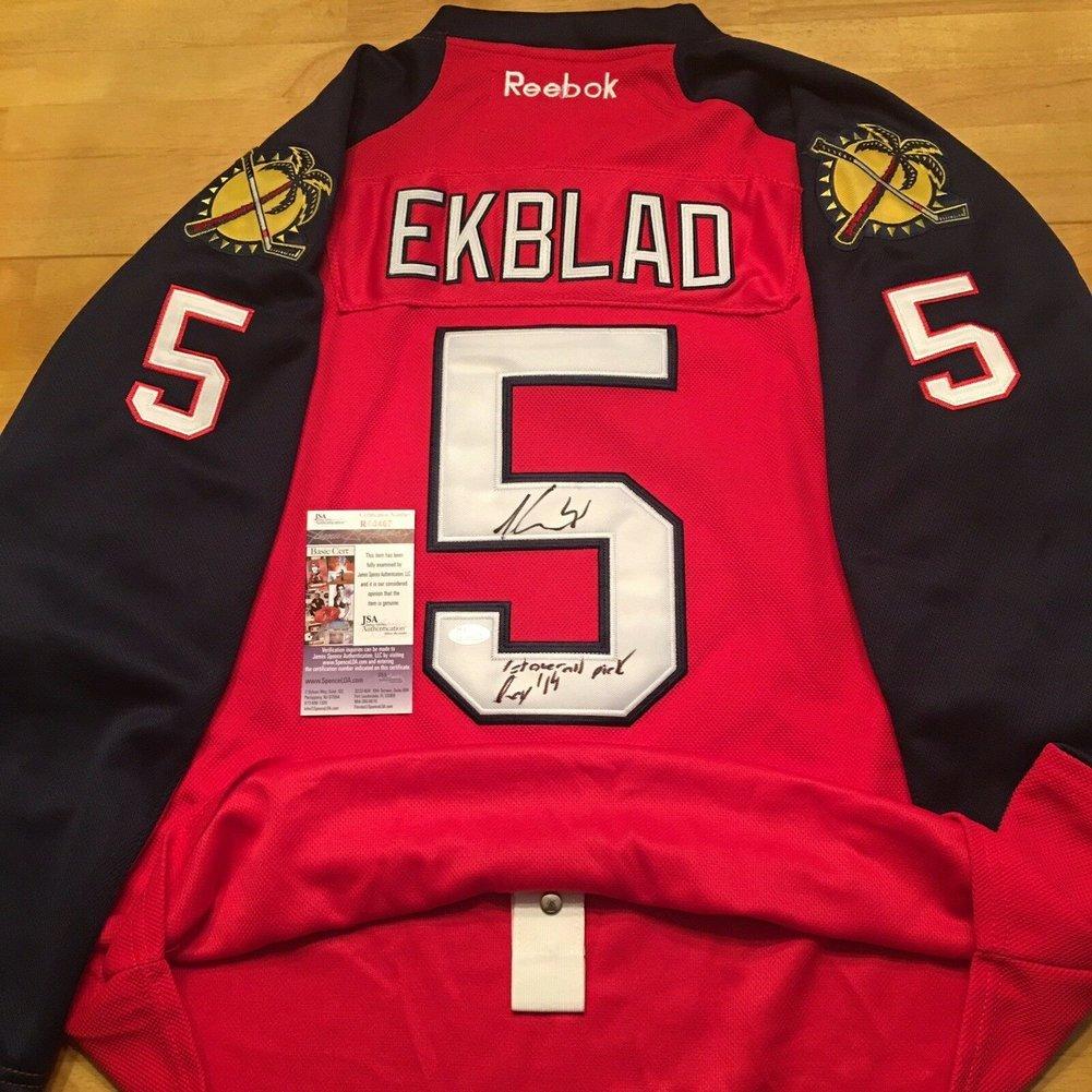 on sale 97eac f93cc Aaron Ekblad Autographed Signed Florida Panthers Reebok Home ...