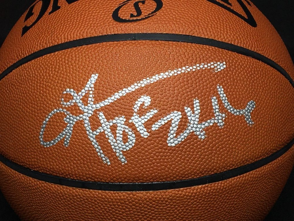 478846437ec Allen Iverson Autographed Signed Autograph Nba Spalding Game Basketball Hof  2K16 PSA/DNA 52463. Loading Images... $1051.99 Price