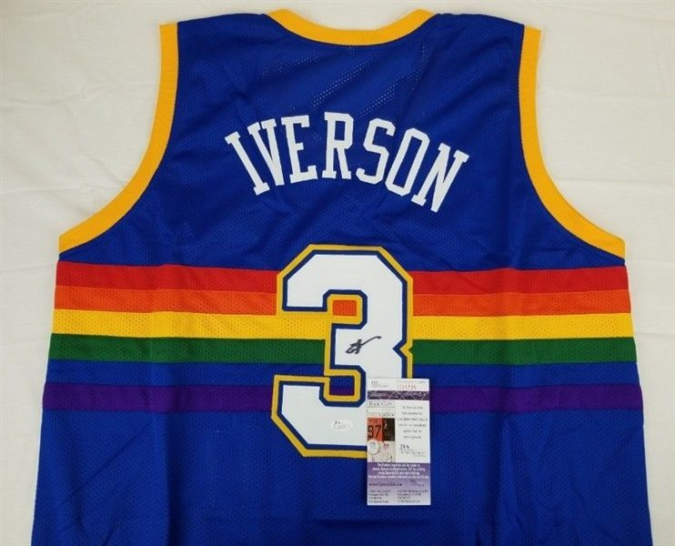 official photos 822af e6008 canada allen iverson denver nuggets throwback jersey f1c7a df328