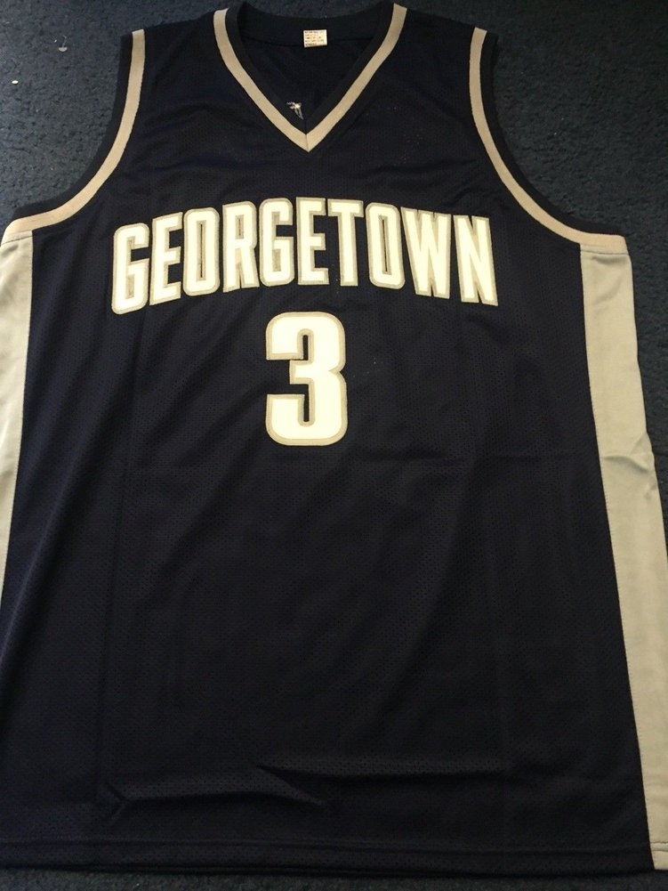 the best attitude b5635 8b441 Allen Iverson Autographed Signed Georgetown Hoyas Jersey Hof ...