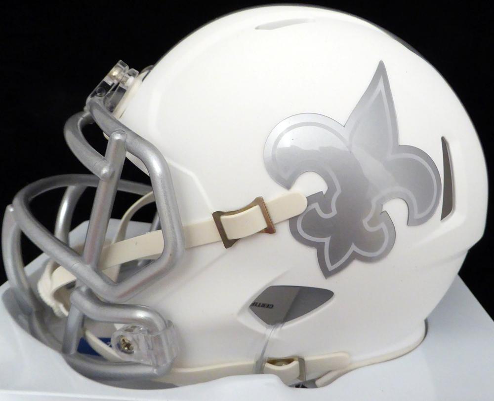 Alvin Kamara Autographed New Orleans Saints Ice Mini Helmet Jsa
