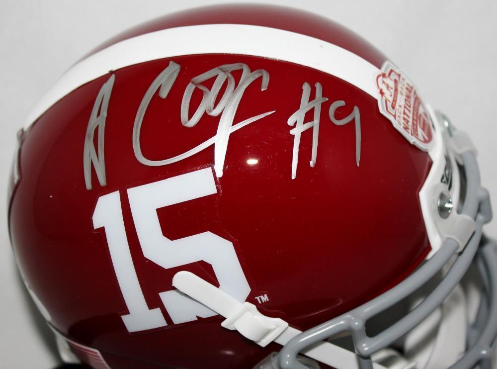 Amari Cooper Autographed Signed Alabama Natl Champs Sticker Schutt