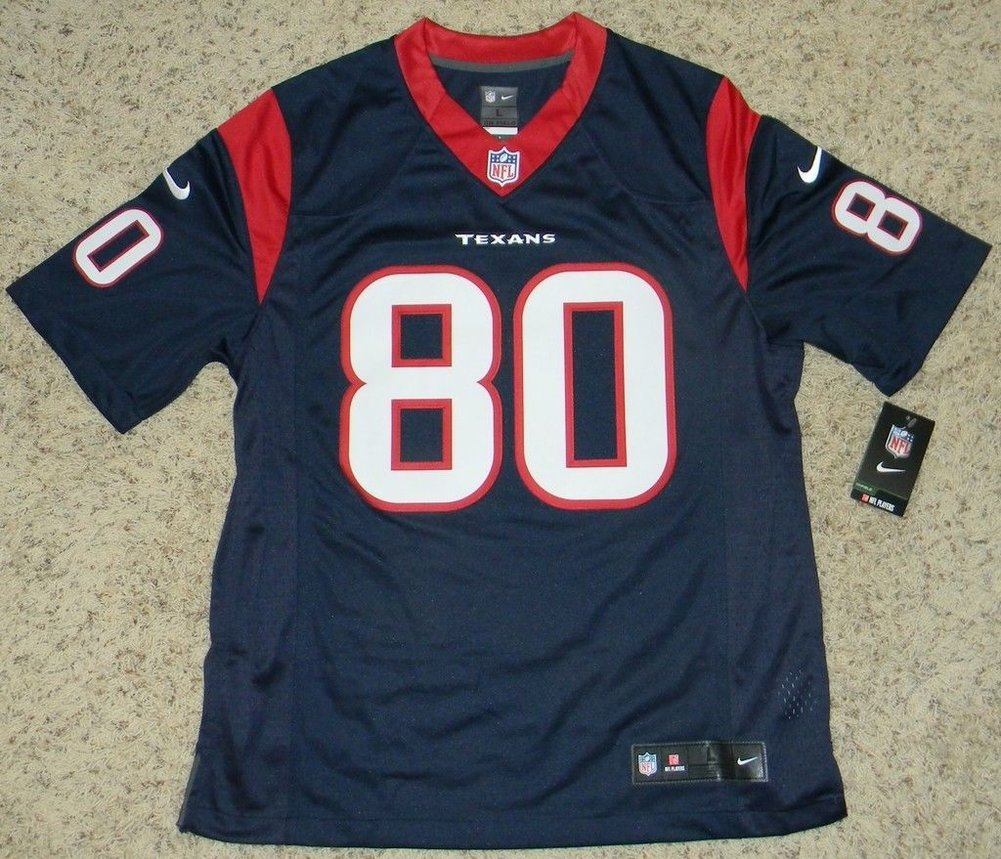 c13e3e23a Andre Johnson Autographed Houston Texans #80 Navy Nike Limited Jersey  Signed - JSA Certified Authentic. Loading Images... $862.99 Price