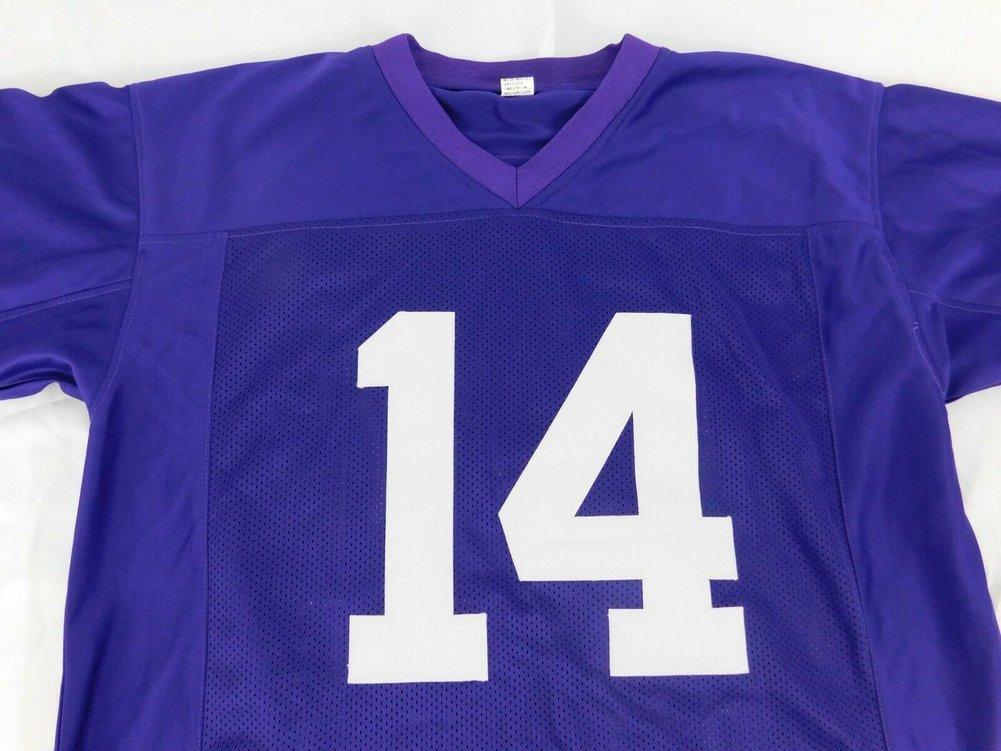 Andy Dalton Autographed Signed Purple Custom Jersey Xl Beckett COA Stitched Bengal Bears Tcu Image a