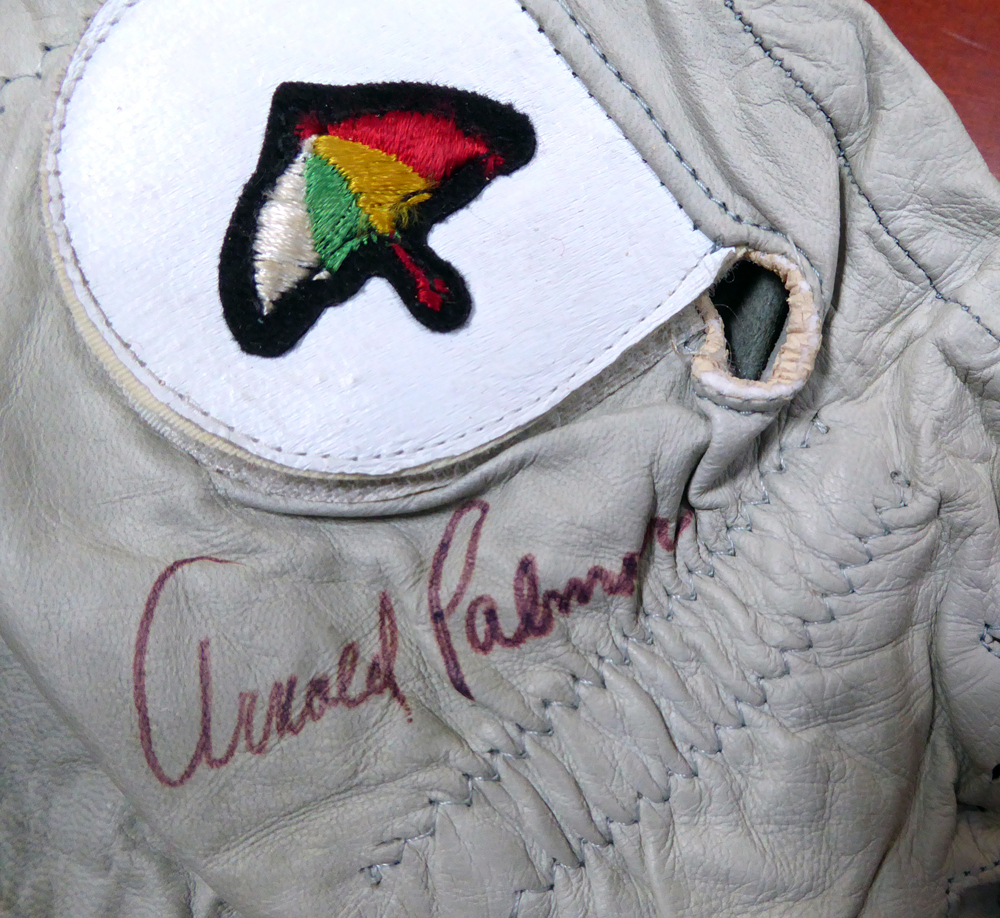 Arnold Palmer Autographed Signed Tournament Used Golf Glove Vintage Signature With Envelope From Palmer - PSA/DNA Certified Image a