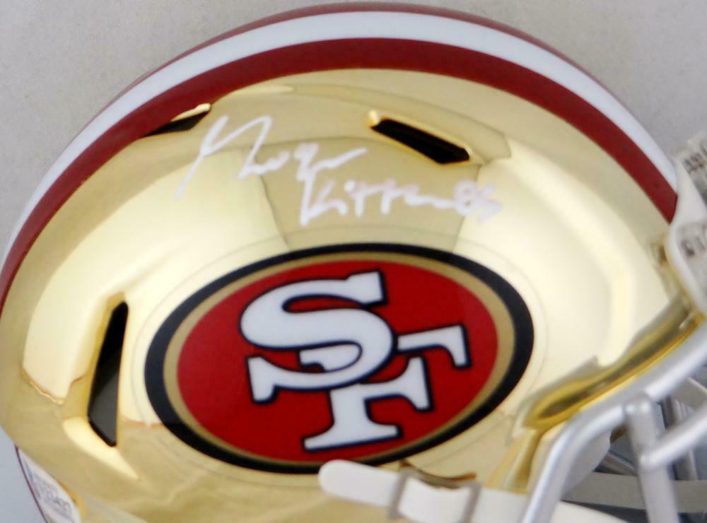 George Kittle Autographed San Francisco 49ers Chrome Mini Helmet BAS