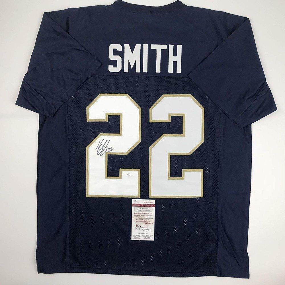 da46a54e7 ... Autographed Signed Harrison Smith Notre Dame Blue Football Jersey - JSA  Authentic Image a