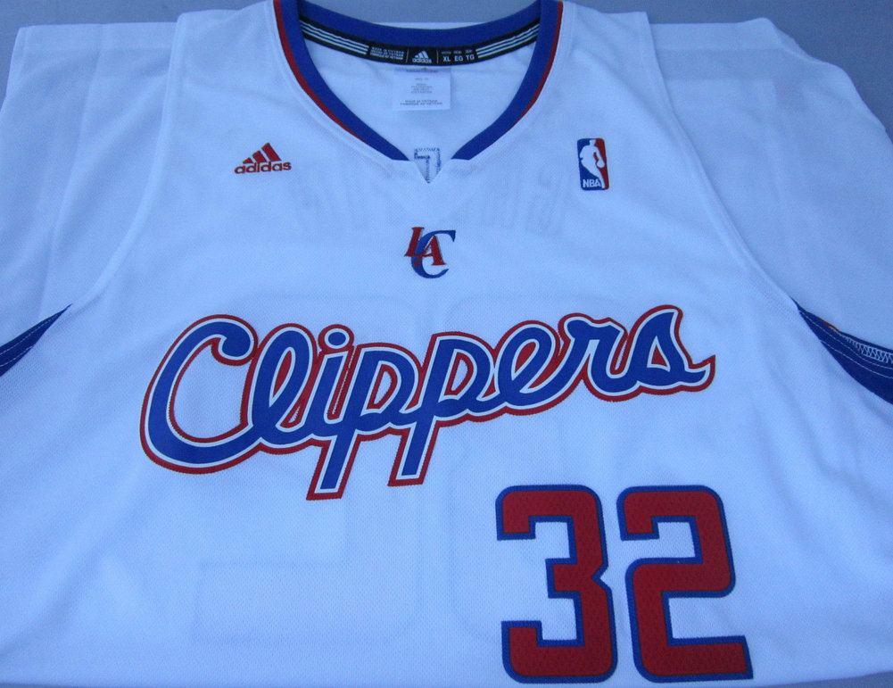b30cd48a3ca spain blake griffin autographed signed adidas clippers white jersey size  7e346 23fcc