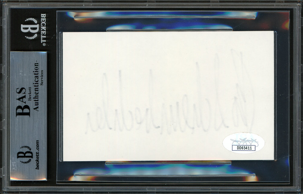 Bo Schembechler Autographed Signed 3x5 Index Card Michigan Wolverines Beckett BAS Image a