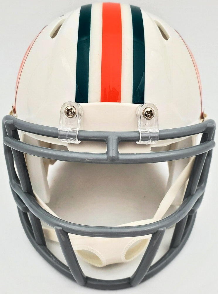 Bob Griese Autographed Signed Miami Dolphins Throwback Speed Mini Helmet Beckett BAS Image a