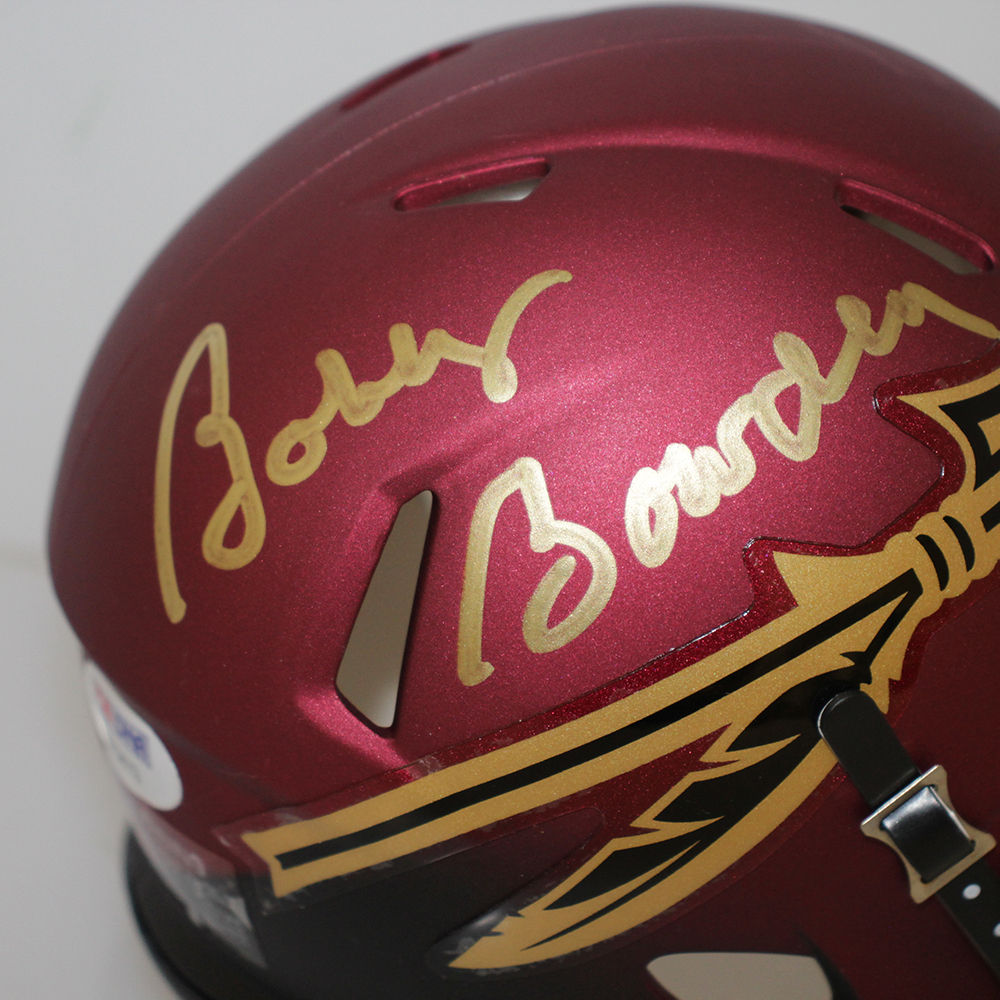 Bobby Bowden Autographed Signed Florida State Seminoles Garnet and Black Speed Mini Helmet- PSA/DNA Authentic Image a